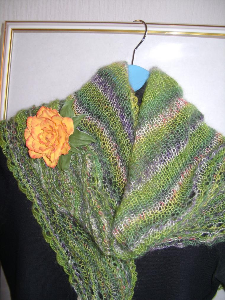 шарфик, весенняя мода, зеленый, модные аксессуары