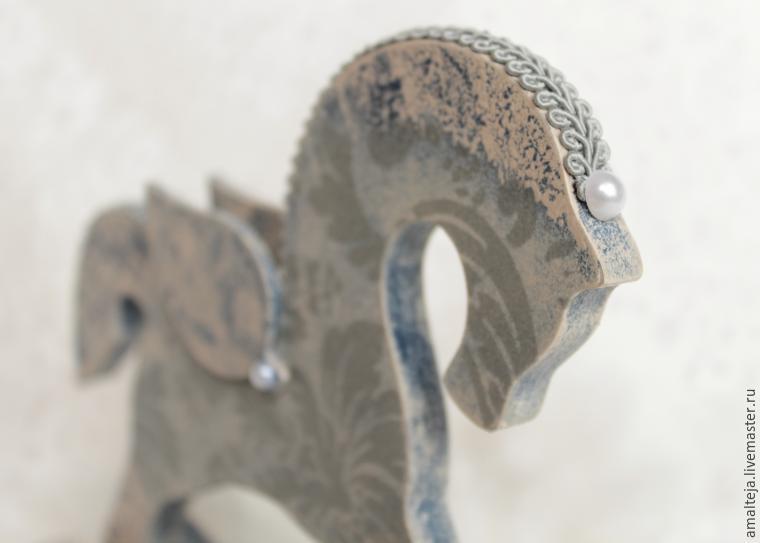 DIY Swan Horse in the Decoupage Technique, фото № 17
