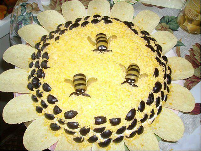 Праздничные салаты фото оформление