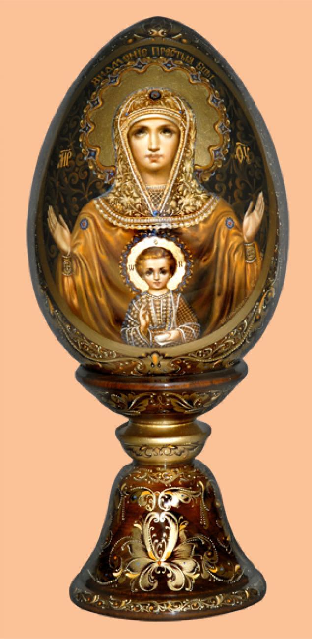 Икона на яйце своими руками