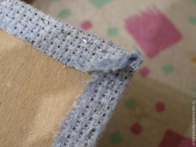 Оформление готовой вышивки в рамку, фото № 13