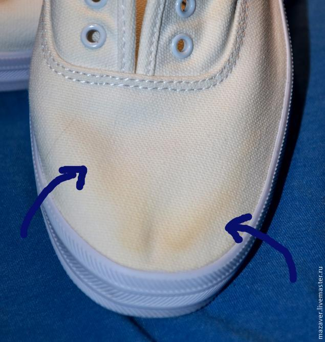Как удалить желтые пятна от отбеливателя с обуви фото