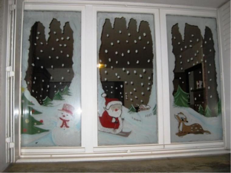 Рисунок на окно к новому году