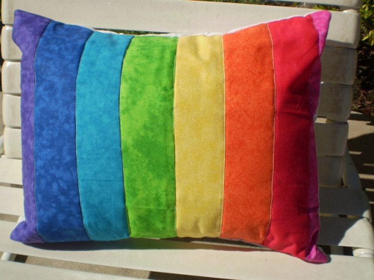 подушки диванные радуга