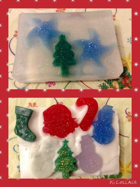 мыло, мыло ручной работы, мыловарение, подарок своими руками, подарок на новый год, новый год, новогодний подарок