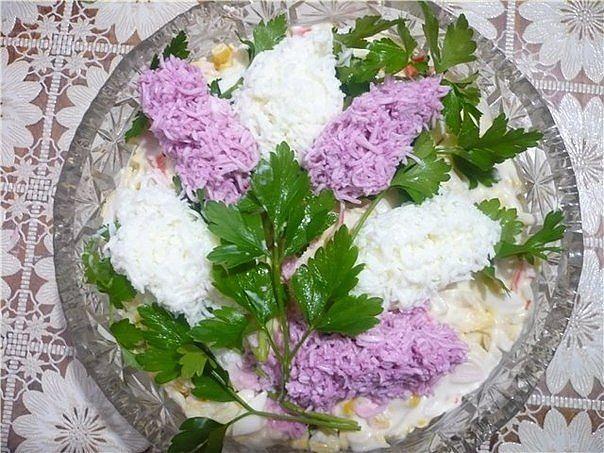 Украшения на салаты сирень фото