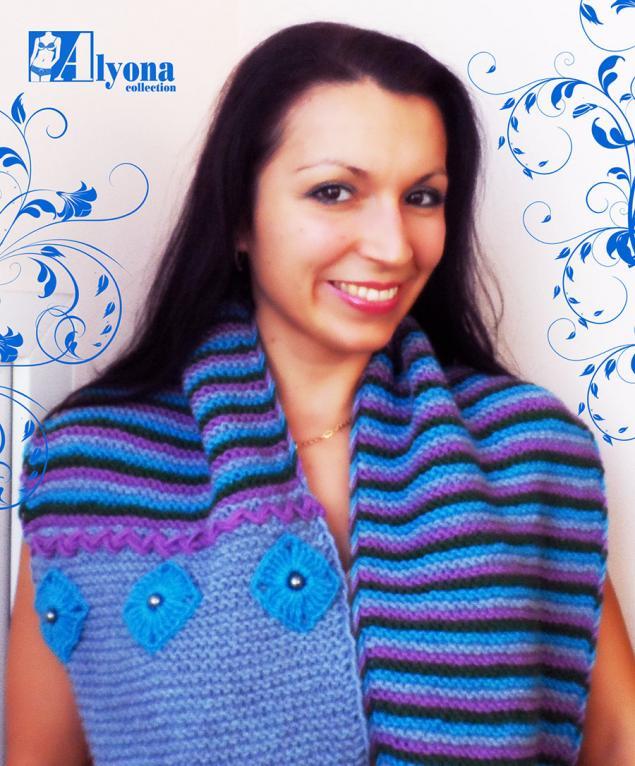 распродажа, акция к новому году, подарок девушке, вязаный шарф