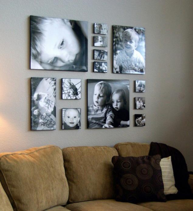 Картины в рамках на стене своими руками 521