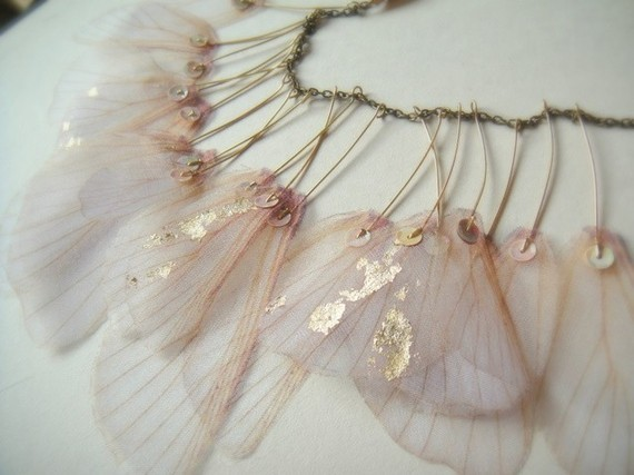 Крылья Iris-органза ожерелье