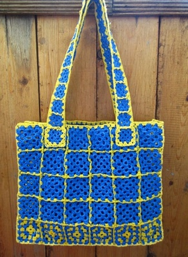 Вязание из пакетов крючком сумок 223