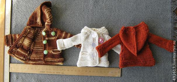 Курточка для текстильной куклы вязание