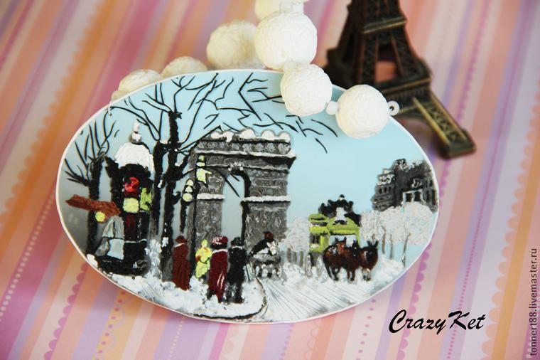 crazyket, полимерная глина, уроки живописи, украшения ручной работы, франция, новый год, урок лепки