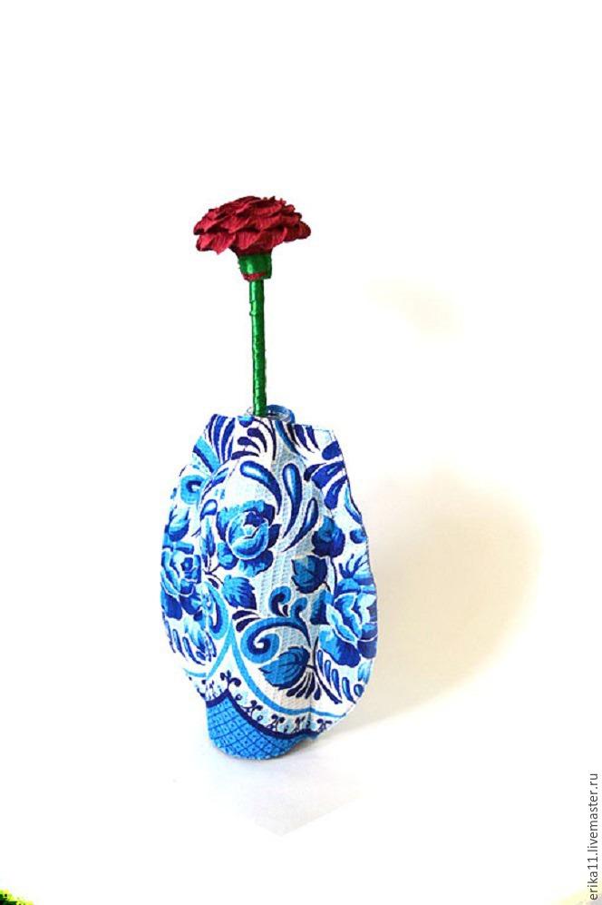 Как сделать вазу с пластиковой бутылки для цветов