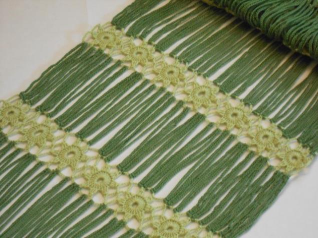 упаковка, вязаный шарф крючком