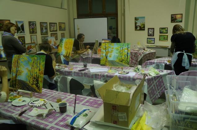мастер-класс по живописи, уроки рисования