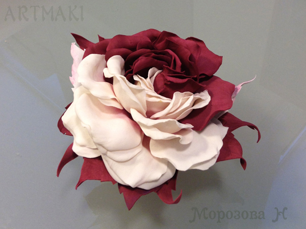 розы из фоамирана