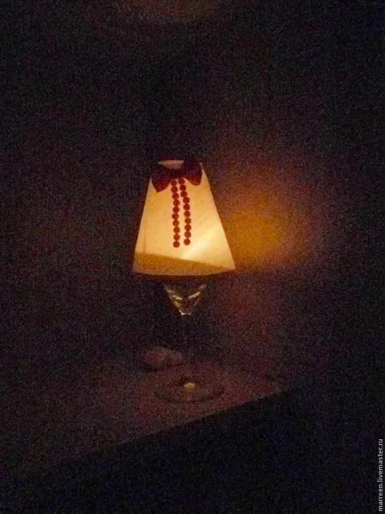 лампа из бокала шаблон абажура