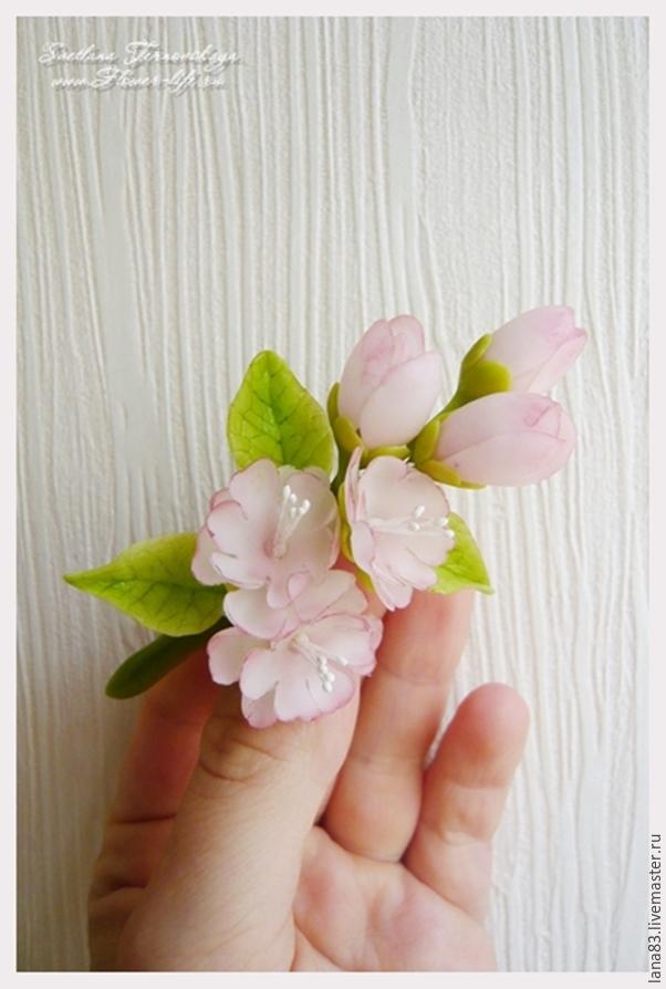 Лепим веточку сакуры из полимерной глины, фото № 12