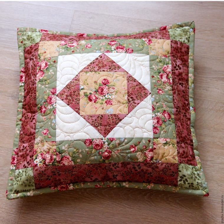 Лоскутное шитье наволочек на подушку