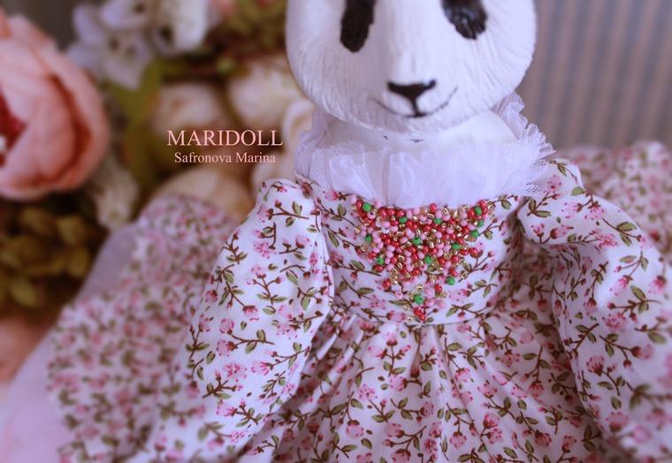 авторская кукла, авторская кукла панда