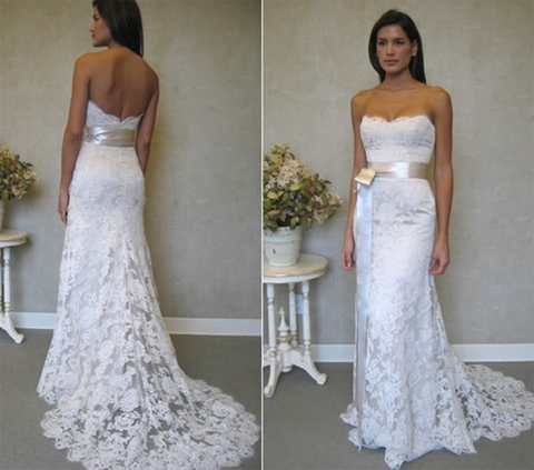 Свадебные платья не пышные не белые