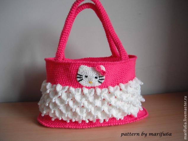 584965012855 Bяжем детскую сумку hello kitty – мастер-класс для начинающих и ...