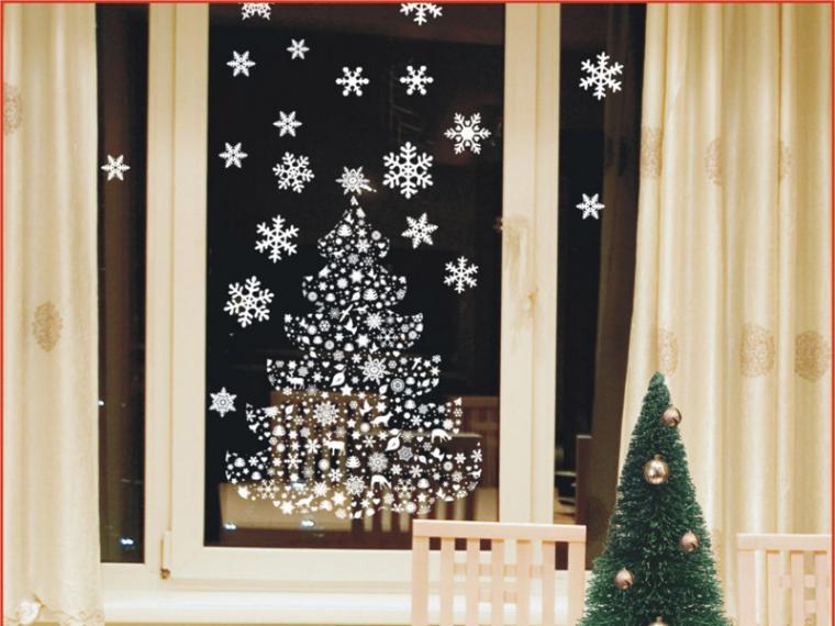 Украшение на окна новогодние своими руками