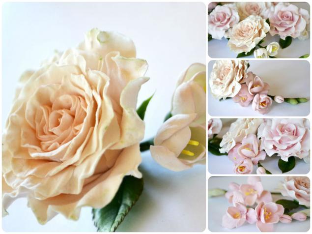 цветы в прическу