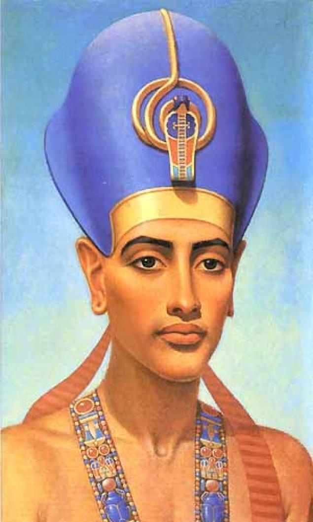 синий цвет в одежде фараона
