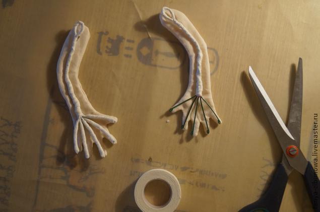 Создание текстильной куклы Лорочки. Часть 1, фото № 17