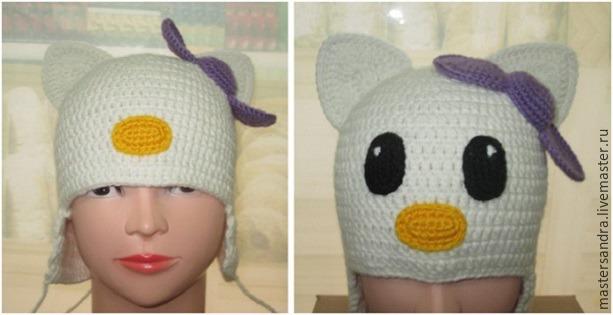 шапка с бантиком