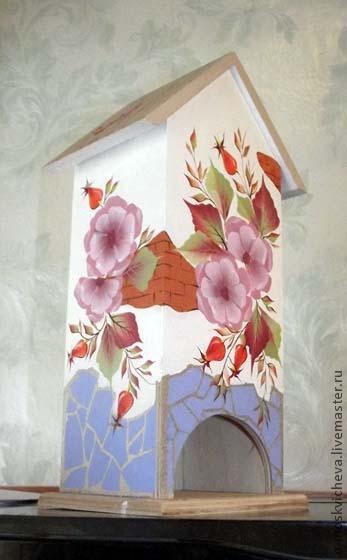 чайный домик, тагильская роспись, подарок на 8 марта