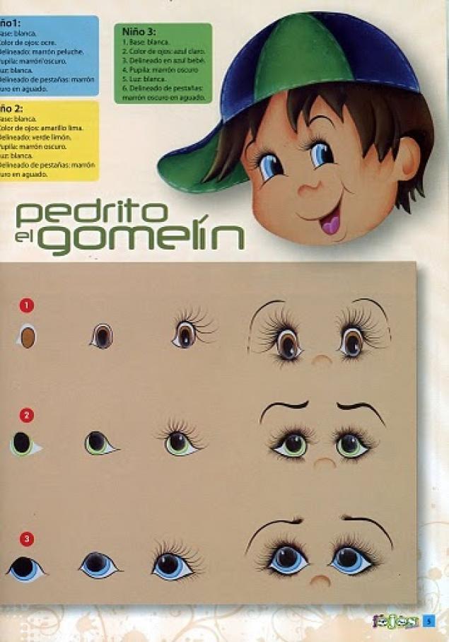 Как нарисовать глаза для тильды