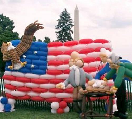 Забавные работы Larry Moss, сделанные из воздушных шариков.  Всемирно-признанный мастер занимается этим уже вот 25...