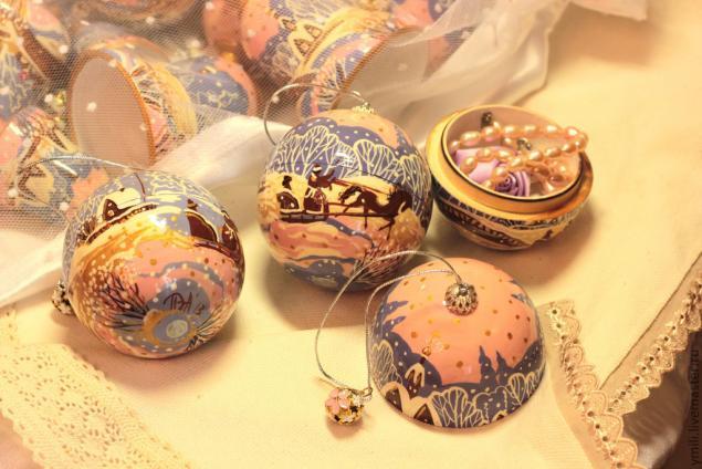 конкурс, пермогорский стиль, расписной шар