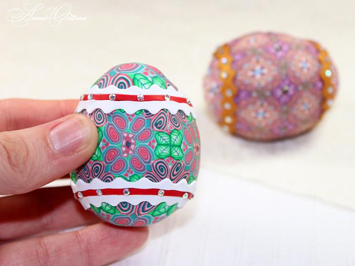 Урок. Декоративное яйцо из полимерной глины *