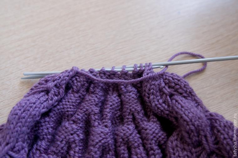 Вяжем шапку с узором «бабочки», фото № 14