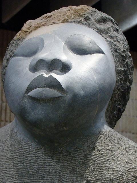 African woman.    Zimbabwe Sculpture.