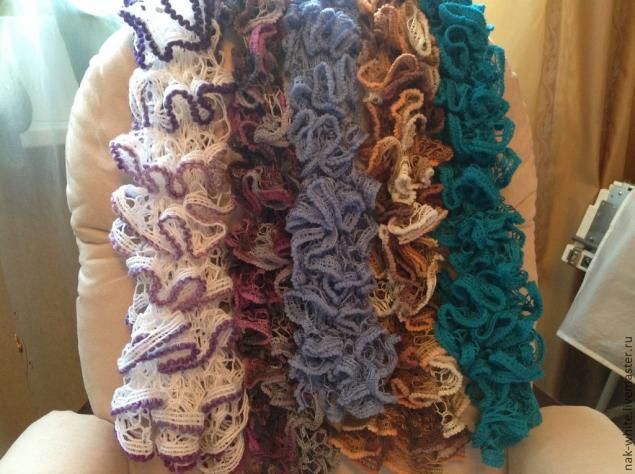 шарф, шарфик, кружево, весна 2014