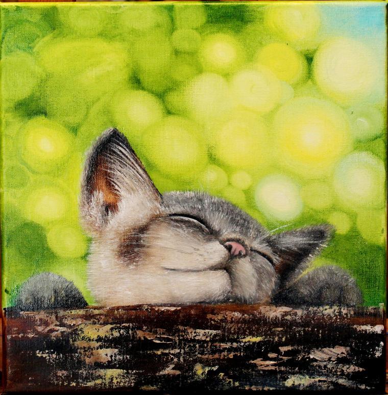 аукцион картин, картины, котенок