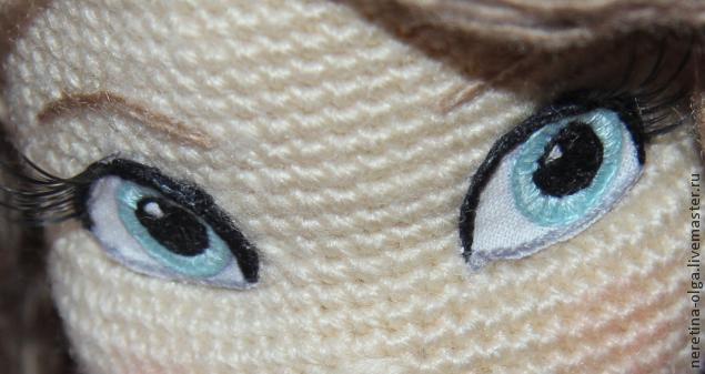 вышиваем глазки для вязаных игрушек мастер класс для начинающих и