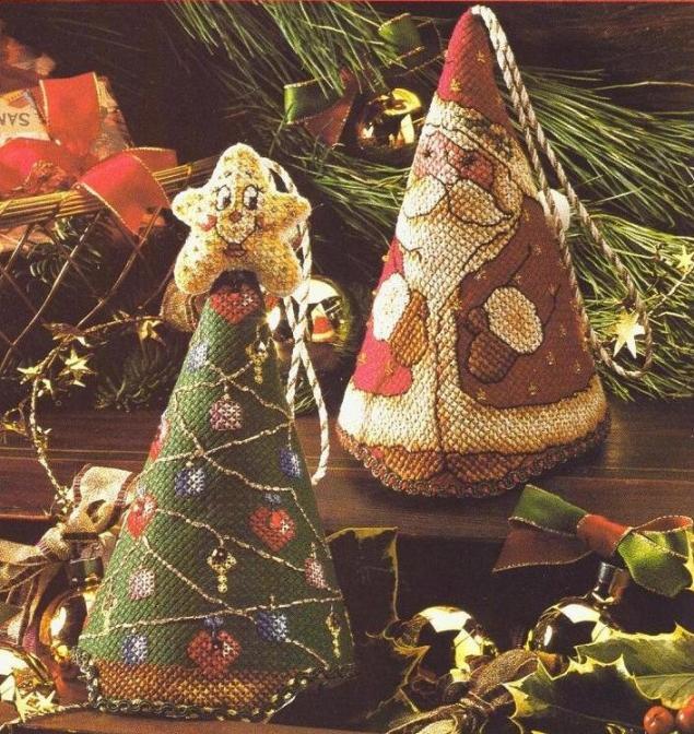 Новогодние объемные игрушки иВеер иДед мороз и