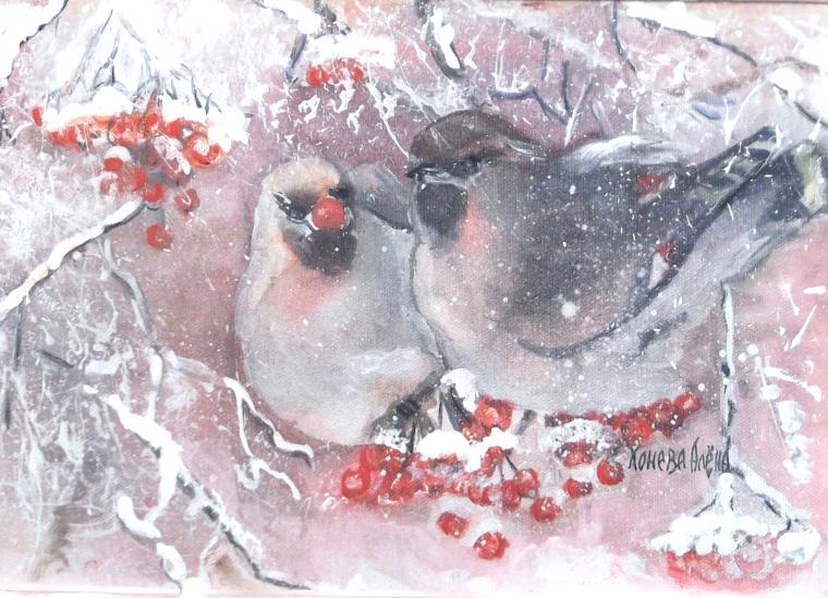 зимний пейзаж, зимняя картина