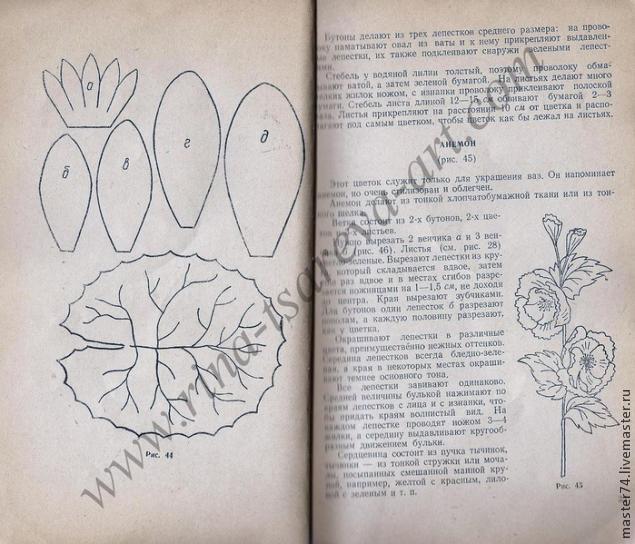 цветы из ткани, цветы из шелка, мастер класс, своими руками, лилия из ткани