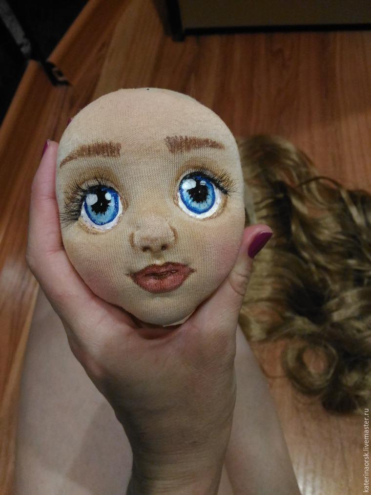 Сшить лицо для куклы из 68