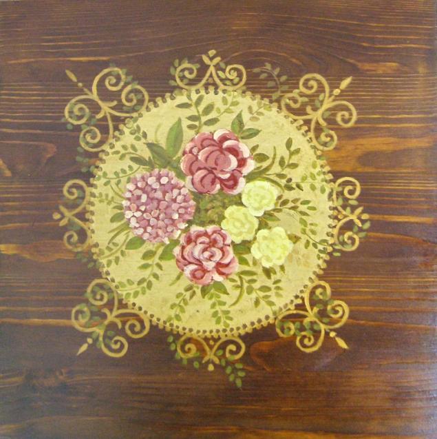 оригинальный подарок, подарок своими руками, школа рукоделия, курсы, роспись по дереву, декор мебели
