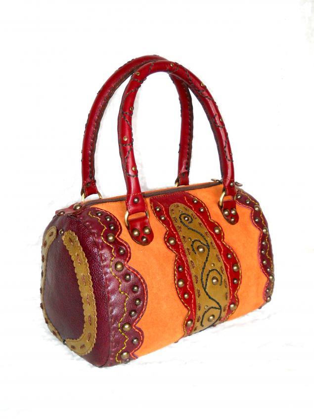 сумка из кожи, надежда полякова, мастер-класс, сумка ручной работы, обучение
