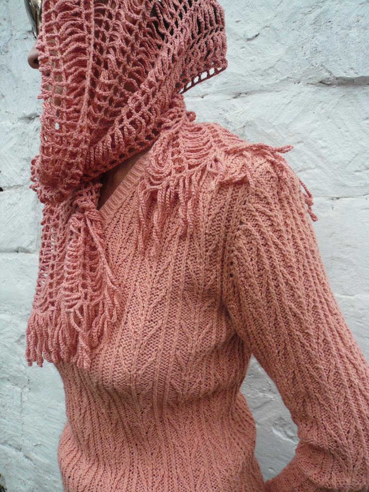 свитер из хлопка, вязаный свитер, вязание на заказ
