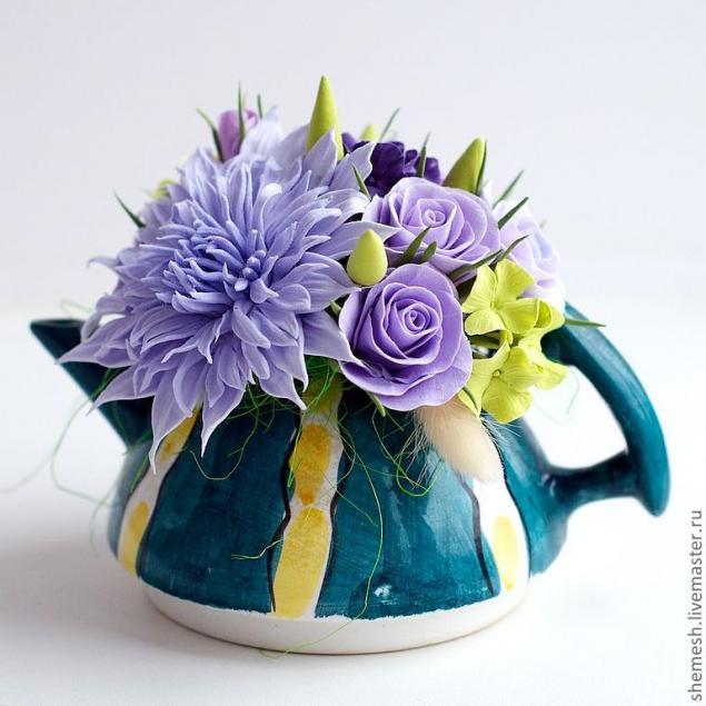 аукцион, к чаю, цветочная композиция, хризантема, розы, гортензия