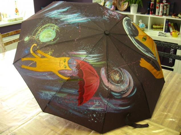 ручная роспись, зонтик, роспись по ткани, мастер-класс, мастер-классы по росписи, роспись зонтов